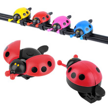 Hot ! Lovely Kid Beetle Ladybug Ring Bell For Cycling Bicycle Bike Ride Horn Alarm Red Blue Pink