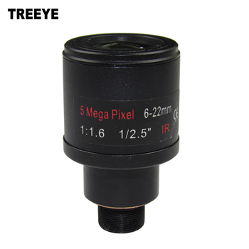 5.0Megapixel Varifocal 6-22mm CCTV Camera Lens For Security Cameras  F1.6 M12 Mount