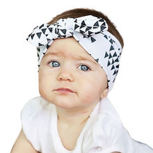 Fashion Baby Girl Dot Knot Headband Newborn Infant  Bow Knot Floral DIY Headband Rabbit Ear Hair Band Floral Head Wrap