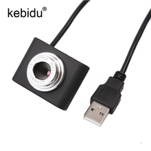 Kebidu Mini USB 2.0 30M Webcam Camera Web Cam 30 Mega Pixel Webcam Camera Black Color For Skype Computer PC Laptop(China)