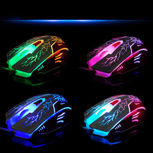 Avenger computer gaming mouse X6 backlight USB cable led mouse Internet game mouse For laptop desktop(China)