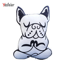 Creative  Animal Pattern Print Pillows Dog Cushions for Home Decor Kids Room Bed Milk Bottle Pillow Toy Cartoon Dog Stuffed Toys