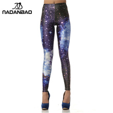 NADANBAO Legging 3D Digital Blue Galaxy Sexy Leggins Fashion Slim Leggins Printed Women Leggings Women Pants(China)