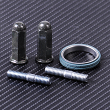 Good quality with metal Exhaust Studs Nuts Gasket Set Fit for GY6 50cc 125cc 150cc QMB139 most Chinese Motor Scooter