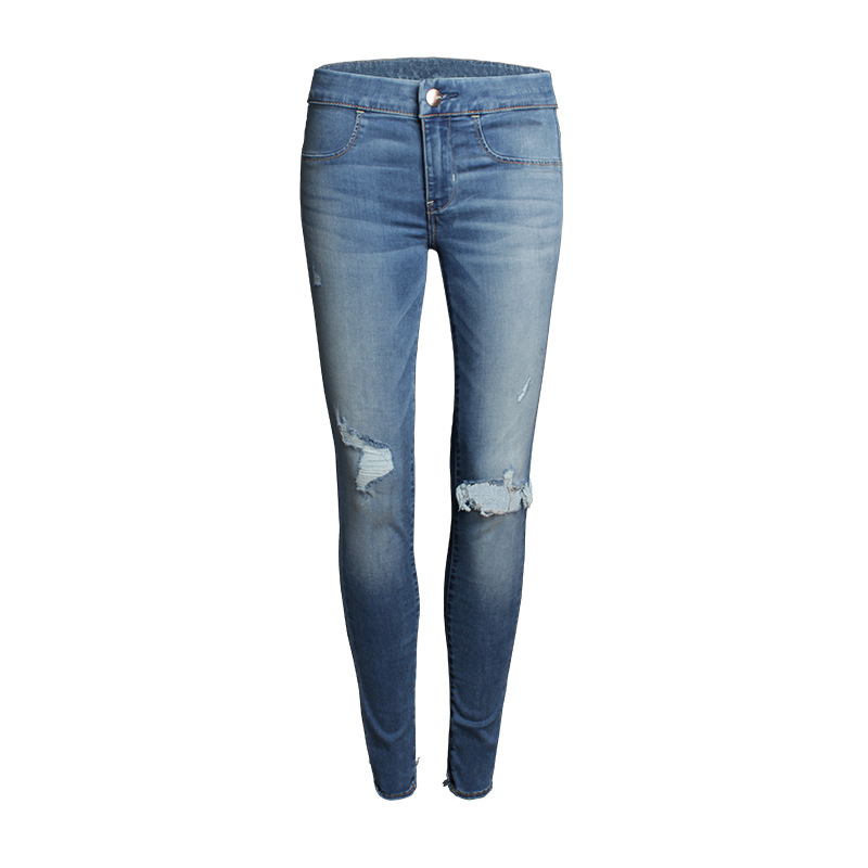 Hot Jeans Woman Mid Waist Jean Pants Woman Casual Ripped Jean for Women American Apparel Jeans Femme Beading and Holes Sexy PantОдежда и ак�е��уары<br><br><br>Aliexpress