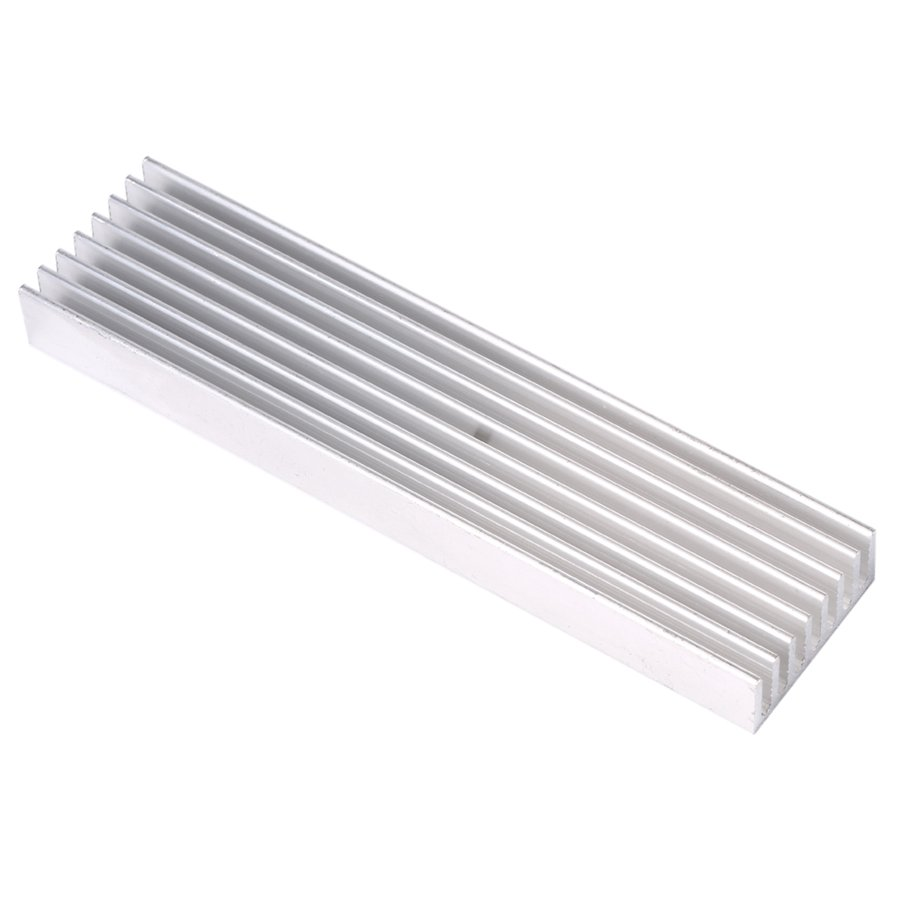 DIY Cooler Aluminum Heatsink Heat Sink Chip 100*25*10mm for IC LED Power Transistor(China (Mainland))