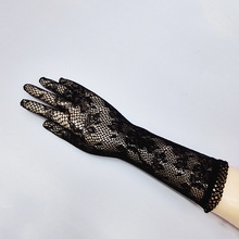 1 pair Sale 2016 New Arrival Party Sexy Lady Lace Gloves Mittens Accessories Black/White/Red/Orange/dark pink 610