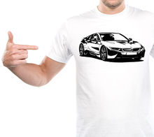 2017 New Muscle Men's Shirts Car T-Shirt I8 Gift Coupe Roadster Automatic Awd Unning Rims Tee shirt(China)