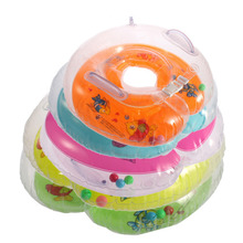 1Pcs Colorful Catoon Adjustable Baby Aid Infant Swimming Neck Inflatable Tube Float Safety Bath Ring  1-18 months old Babies