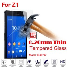 Explosion Proof Cheap 2.5D 0.26mm 9H Phone Cell Front Tempered Glass Verre For Sony Soni Xperia Experi Experia Xperi Z1