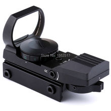 Hot Sale 20mm / 11mm Tactical Scope Hunting Optics Riflescope Holographic Red Dot Sight Reflex 4 Reticle Hunting Gun Accessories(China)