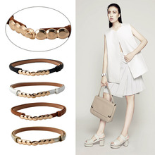 1 PC Fashion All-Match Fluorescent Waist Chain Belt Alloy Buckle Paint Thin Belt