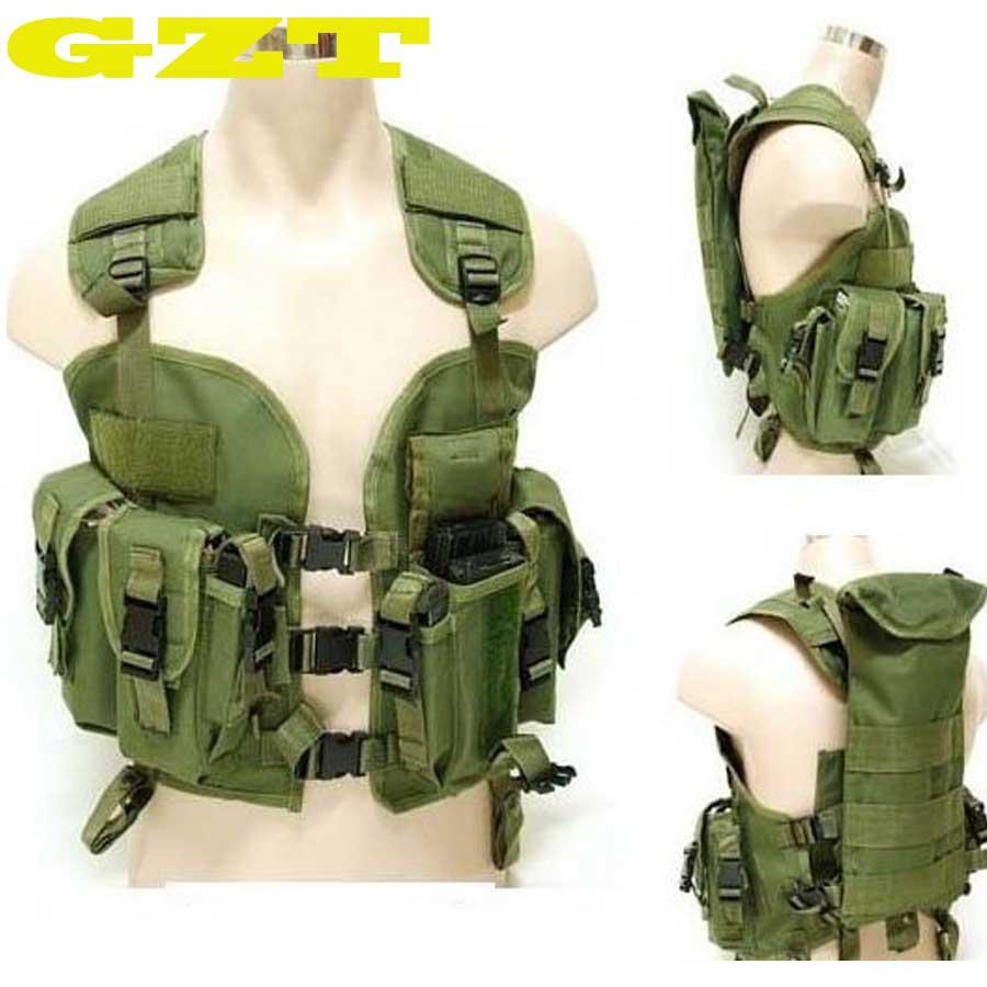 Top Quality BDU US Navy Seals 97 Vest Military Molle Water Bag Swat Tactical Vest Army Training Combat Uniform Green BK Woodland<br>