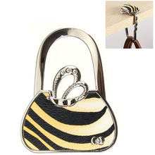 SZS Hot Foldable handbag hook carrying bag holder metal butterfly wings Yellow and black