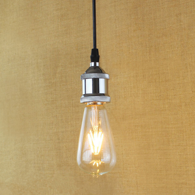 E27 Modern Silver Simple Filament Pendant Light For Bar Cafe Dining Room Decoration Eddison Bulb Kits<br><br>Aliexpress