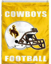 Wyoming Cowboys Football Garden House College Large Outdoor Flag 3ft x 5ft Football Hockey Baseball USA Flag(China)