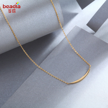 Wholesale Pure 925 Sterling Silver Gold Color Women Sample Anti Allergy Necklace Women Wedding Party Jewelry