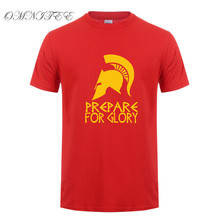 Summer Fashion Men T Shirt Sparta T-shirt Sparta Prepare For Glory T Shirts Cotton Short Sleeve Greece Men Clothing Top OT-551(China)