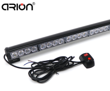 "car-styling 18"" 16 LED Emergency Traffic Hazard Flash Strobe Light Bar Warning Amber Yellow White rechargeable working light"