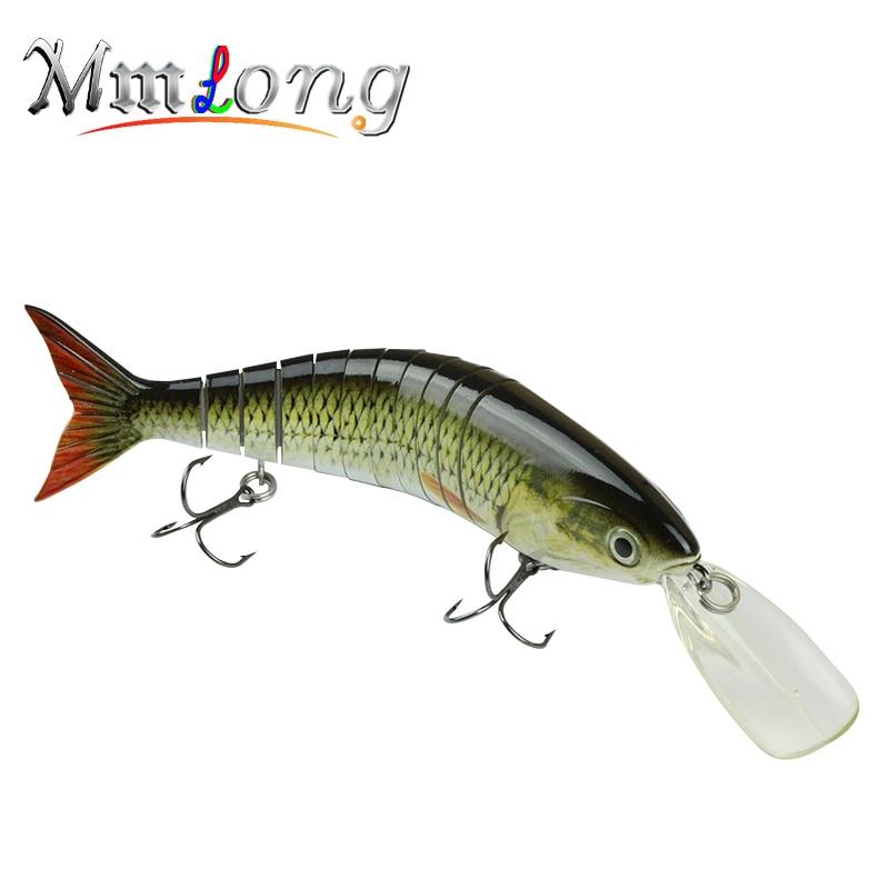 Mmlong 2017 High Quality Professional Fishing Lure Big Multi Jointed  Crankbait Slow Sinking Hard Fishing Lip Baits # MML11-M<br><br>Aliexpress