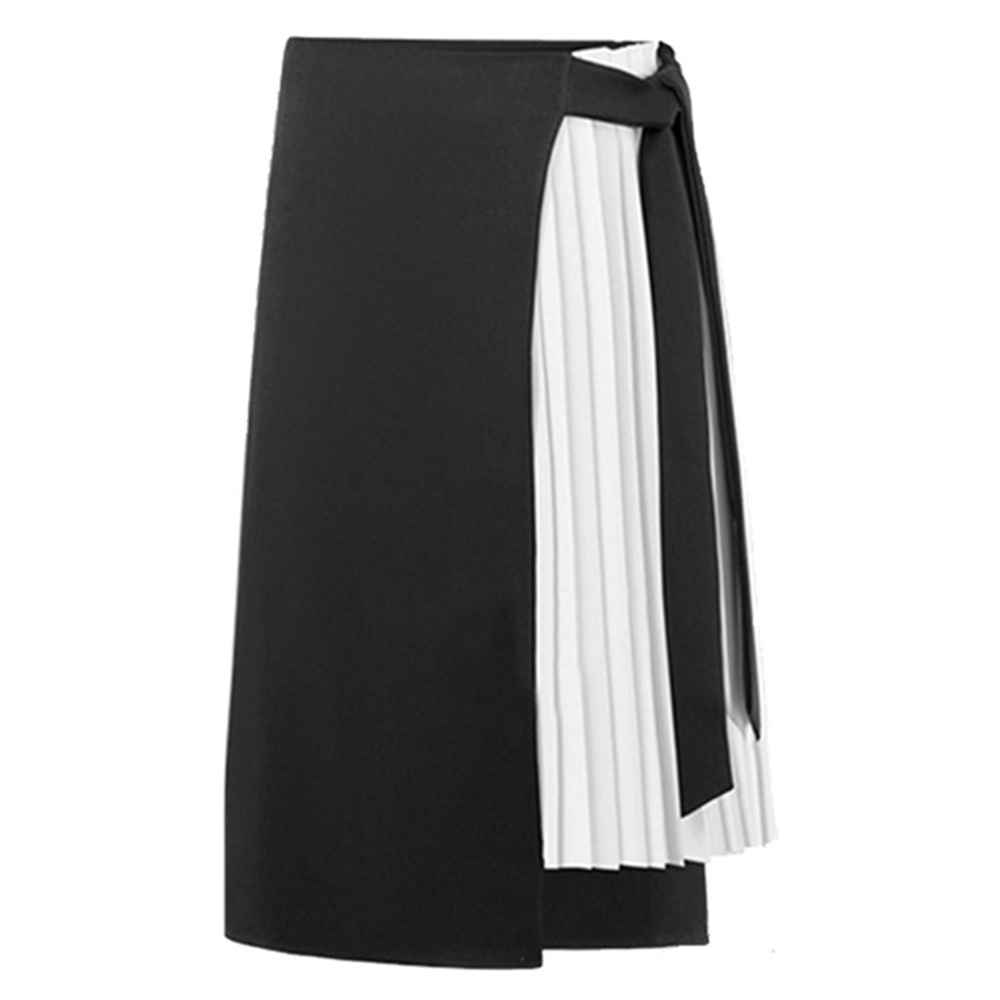 Daddy Chen 2019 New Spring Summer Elegant Midi Skirts Womens Chiffon Long Skirt High Waist A Line Splicing Streetwear 2-Styles