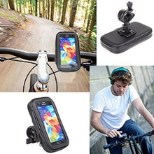 1 PC New Bike Bicycle Handle Phone Mount Cradle Holder Cell Phone Motorcycle Handlebar Waterproof bag Case For CellPhone(China)