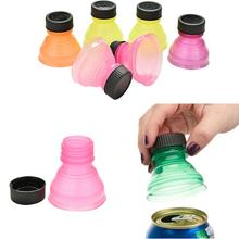 6Pcs/set Bottle Lids Soda Saver Pop Beer Beverage Can Cap Flip Bottles Top Lid Container Jars Tins Protector Snap On DropShip(China)
