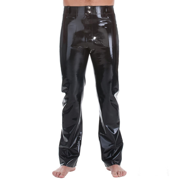 Latex Rubber Rubber Jeans With Front & Back Pockets2