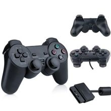 2pcs Shock Wired Game Gamepad for Sony Play station 2 for PS2 Controller