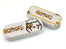 SAN-X toys anime Neko Atsume Kutusita Nyanko Boots cat Kumamon Sumikko Gurashi Osomatsu-san glasses case box free shipping(China)