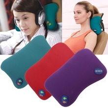 YL-60102 Universal Home Office Brain Relaxing Massage Pillow 6 Massage Mode Ergonomic Design Release Pressure Pillow