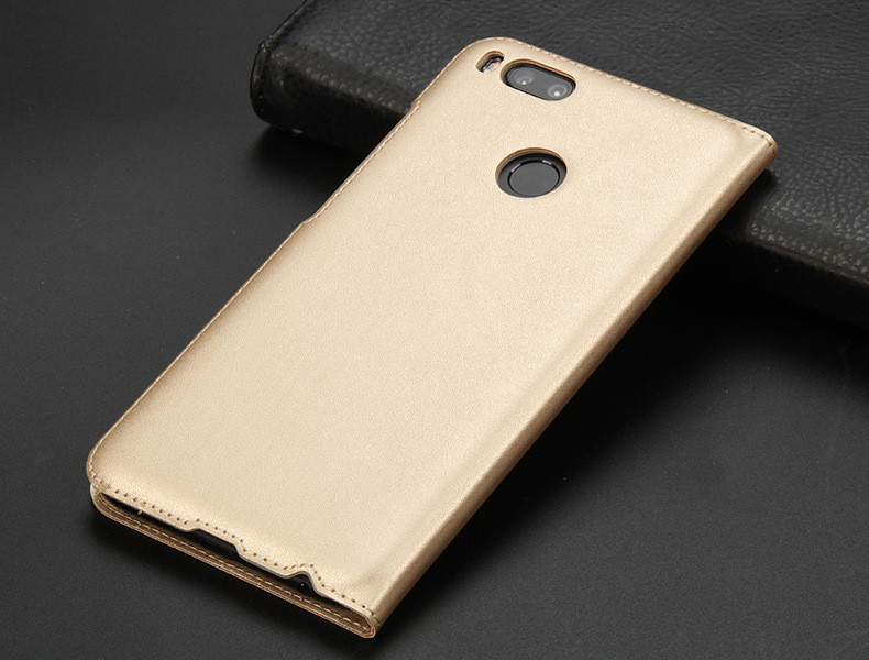 view quick answer open window leather flip case for xiaomi mi A1 mi 5x   10
