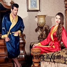 Accept the third party inspection,Suzhou silk 2016 lovers new arrival silk bathrobe silk double dragon robe quality gift