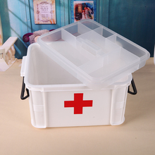 Large Storage Boxes & Bins Chest of Drawers Family Home Medicine Health Care Plastic Drug First Aid Kit Storage Box 33x24x19cm
