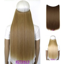 24inch (60cm) 100g straiht mircale wire halo hair extension heat resistant synthetic hair extension
