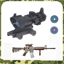 Tactical Airsoft ACOG Scopes 1x32 Red Green Dot Adjustable Illuminated Laser Sight Rifle Scope for 20mm Rail Mount