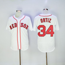 mens Baseball jersey 34 David Ortiz Jersey Flexbase retired Patch Big Papi Final season Retro throwback College