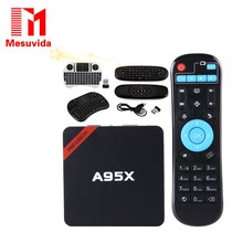 MESUVIDA NEXBOX A95X TV Box Android 6.0 Smart TV Box Amlogic S905X  64 Bit Cortex A53 4K 2.4GHz WiFi Smart Set Top Box 2G 8G 16G