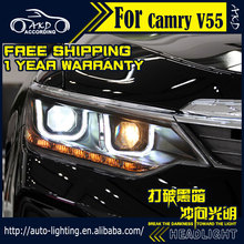 AKD Car Styling Head Lamp for Toyota Camry Headlight 2015 New Camry LED Headlight DRL H7 D2H Hid Option Angel Eye Bi Xenon Beam