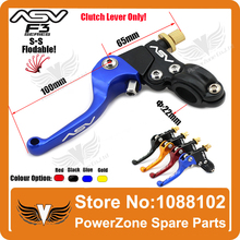 Alloy ASV F3 1st Short Clutch Folding Lever Only Racing Motorcycle Pit Dirt Bike IRBIS KAYO GPX Pit Pro YZF Modify Free Shipping