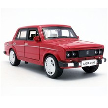 Brand New Russia LADA 2016 Diecast Model Car Vintage Metal Car With Openable Door Pull Back Musical Flashing For Baby Gifts Toys(China)