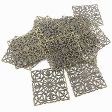 Buy 10Pcs Embellishments Connectors Antique Bronze Tone Square Filigree Wraps Alloy Hollow Jewelry Making DIY Findings 40mm for $1.51 in AliExpress store