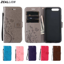 ZEALLION For Huawei P8 P9 P10 mini lite honor 4A 5A Y5 Y6 II G620S G8 Case Flower Butterfly Magnetic Holster Flip Leather