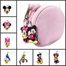 1pcs Cute Cartoon Mickey Mobile Phone Backpack Hanging Rope Pendant Ornament Anime Figure Hang Strap Lanyard Trinkets Decoration
