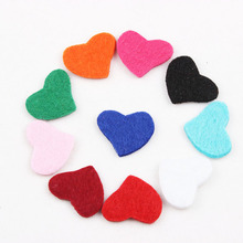 Colorful 20*18MM Heart Essential Oils Diffuser Locket Pendant Necklace Felt Refill Pads for Aroma Purfume Locket 100pcs/lot(China)