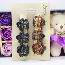 Buy 6Pcs/set black /tortoiseshell color hair claws 3cm mini flower shape plastic hair clips hair accessories wholesale for $1.19 in AliExpress store