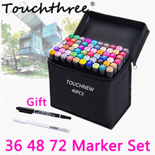 36/48/72 Colors Touch marker Set Oily Based Double Head Sketch Markers Drawing for Student Manga Dessin marcador caneta(China)