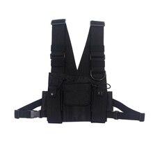 Men Tactical Shoulder Bags Chest Rig Bag Hip Hop Streetwear Men Functional Waist Packs Adjustable Pockets Waistcoat Kanye West(China)