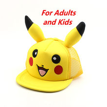 Cotton New Movie Detective Pikachu hat Cosplay Costume Snapback Unisex Baseball cap hats Halloween Carnival for Kids Women Men(China)
