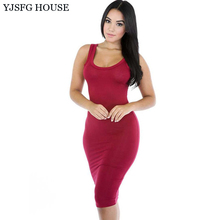 YJSFG HOUSE Casual Summer Women Sleeveless Bodycon Shirt Dresses 2017 Ladies Sexy Slim Bandage Package Hip Dress Midi Robe Femme